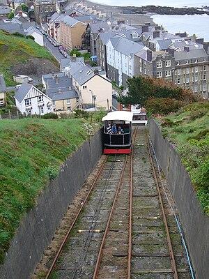 Aberystwyth Cliff Railway - Image: Railway on Constitution hill 1
