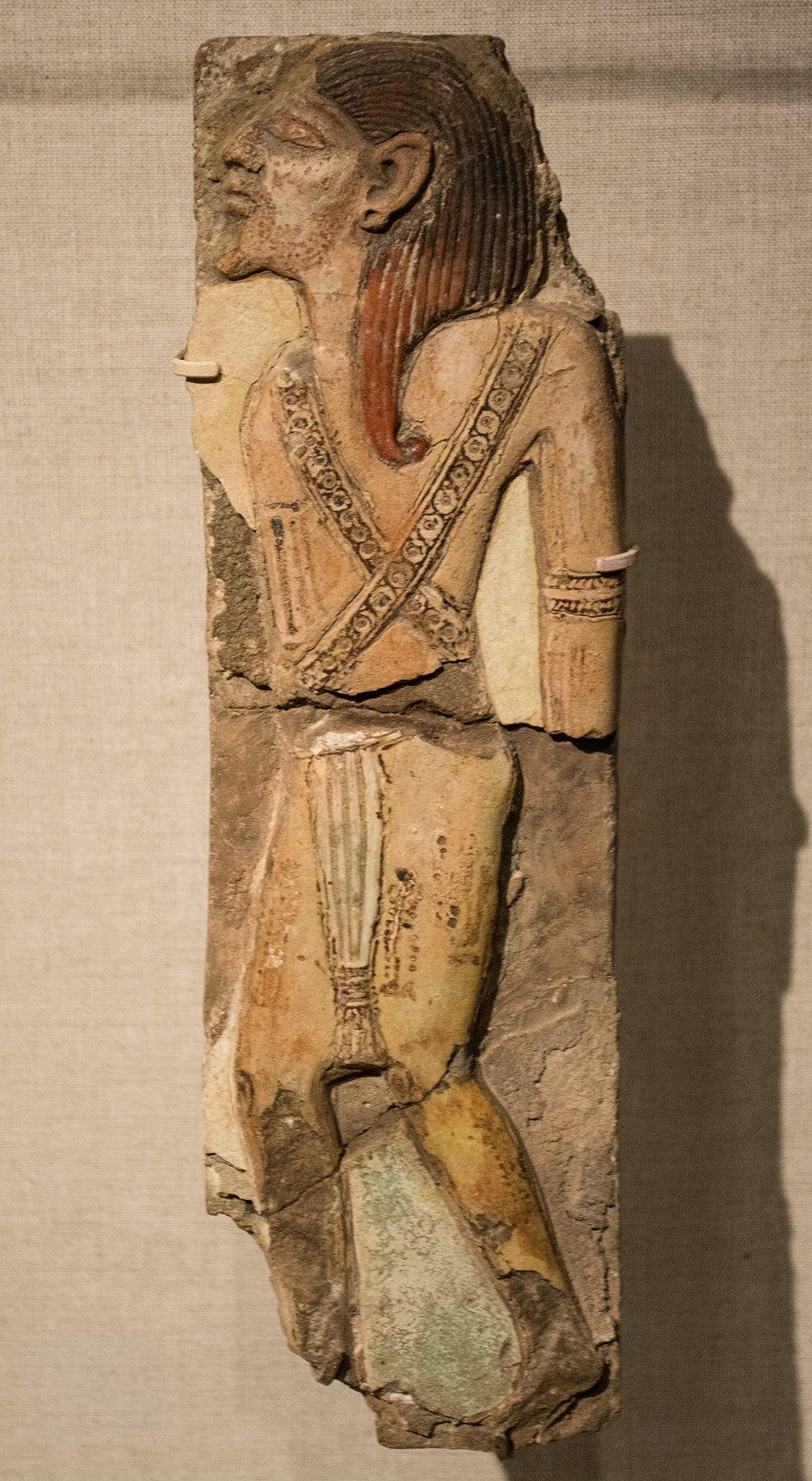 Ramesses III faience tile - Libyan chief