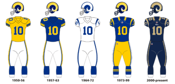 38a0630d0f5 Rams' uniform evolution (1950–2016)