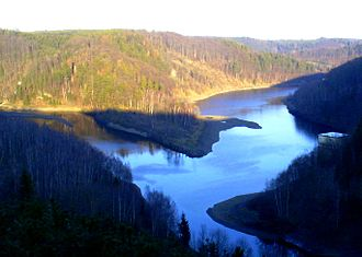 Harz - Reservoir behind the Wendefurth Dam