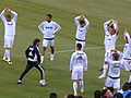 Real Madrid warms up before friendly match against Club América 2010-08-04 6.JPG