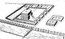 Reconstruction of the peribolos at Babylon, including the temple of Esagila.jpg