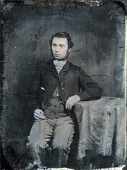 Rees Arthur Rees (Rhys Dyfed, 1837-66) (ambrotype)