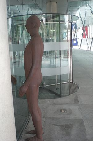 DS Smith - Statue by Sir Antony Gormley outside DS Smith's head office in Euston Road