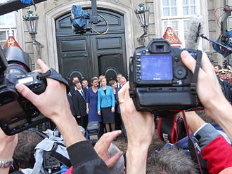 Helle Thorning-Schmidt - The first Cabinet presented at Amalienborg