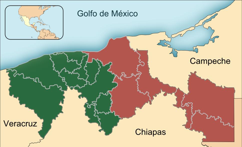 Regions of tabasco-Es