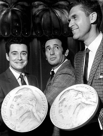 Johnny Mann - Mann, at right, with Regis Philbin and Joey Bishop on The Joey Bishop Show (talk show) (1969)