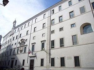 Mount of piety - Monte di Pietà building in Rome, rione Regola