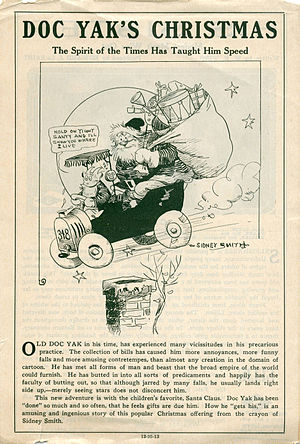 Old Doc Yak - Release flier for the 1913 short feature Doc Yak's Christmas