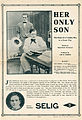 Release flier for HER ONLY SON, 1913.jpg