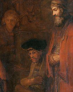 REMBRANDT The Return of the Prodigal Son (Spectators) c. 1669