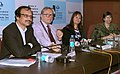 Renowned Polish Film maker Mr. Krzysztof Zanussi addressing the press conference along with the Director Polish Film, Ms. Anna Bromley, at the 43rd International Film Festival of India, IFFI-2012, in Goa. The Director.jpg