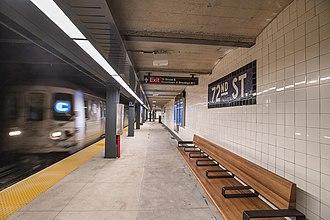 72nd Street (IND Eighth Avenue Line) - Uptown platform on the upper level