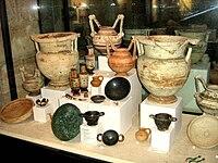 Reperti messapici presso il museo