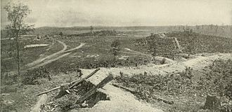 Battle of Resaca - Confederate earthworks overlooking the battlefield at Resaca, 1864.