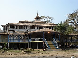 Belgian Congo - Former residence of the Governor-General of the Belgian Congo (1908–1926) located in Boma