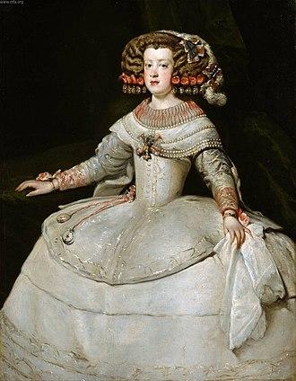 Portrait of the Infanta Maria Theresa of Spain - Image: Retrato de la infanta María Teresa (4), by Diego Velázquez