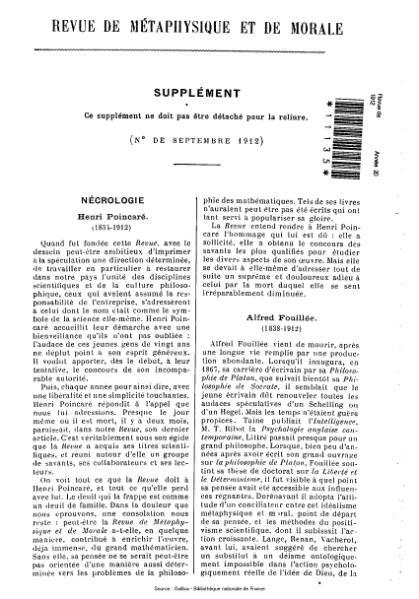 File:Revue de métaphysique et de morale, supplément 5, 1912.djvu