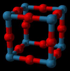 Rhenium trioxide - Image: Rhenium trioxide unit cell 3D balls B