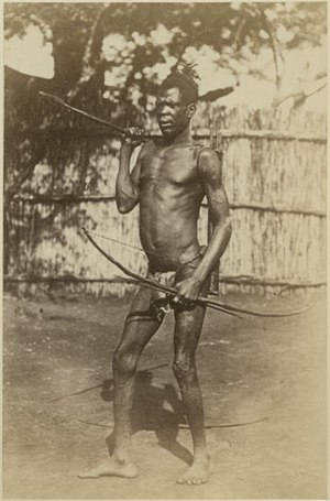 Avukaya people - Avokaya man with bow and spear
