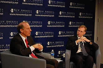Steve Coll - Steve Coll (right) with Richard N. Haass, President of the Council on Foreign Relations