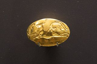 Archanes Minoan gold seal ring