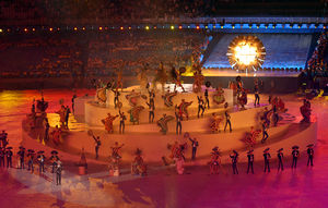 2011 Pan American Games - The handover presentation during the 2007 Pan American Games closing ceremony.
