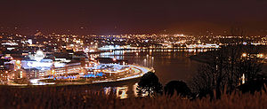 The River Foyle at night