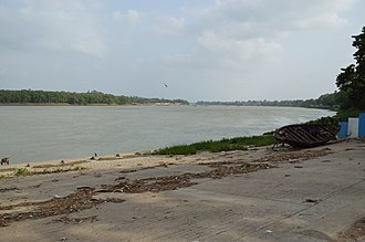 Chandannagar - A view of the River Hooghly from the Strand Road
