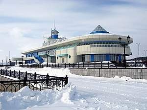 Khanty-Mansiysk - Image: River port and auto depot of Khanty Mansiysk