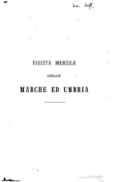 File:Rivista delle Marche ed Umbria.djvu