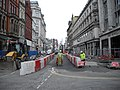 Road construction continuing in St Mary St, Cardiff.jpg