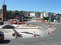 Roadworks at roundabout by harbour at Weymouth - geograph.org.uk - 1954265.jpg