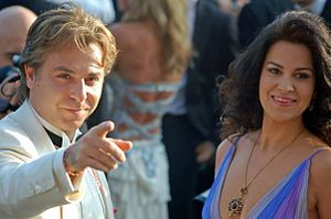 Angela Gheorghiu - Angela Gheorghiu and Roberto Alagna at the 2006 Cannes Film Festival