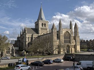 Rochester Cathedral - Image: Rochester Cathedral northwest view