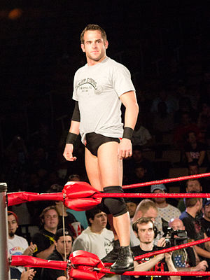Roderick Strong - Strong posing on the turnbuckles in March 2012