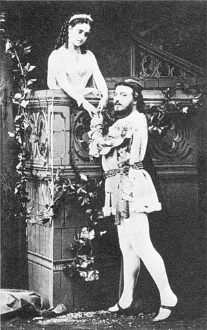 Roméo et Juliette - Adelina Patti and Mario in the title roles, Act 2 in a London production of 1867