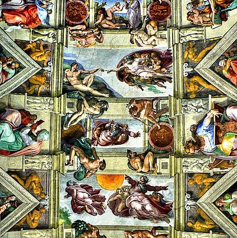 FileRom  Vatikanische Museen Die Erschaffung Adams Mitte oben