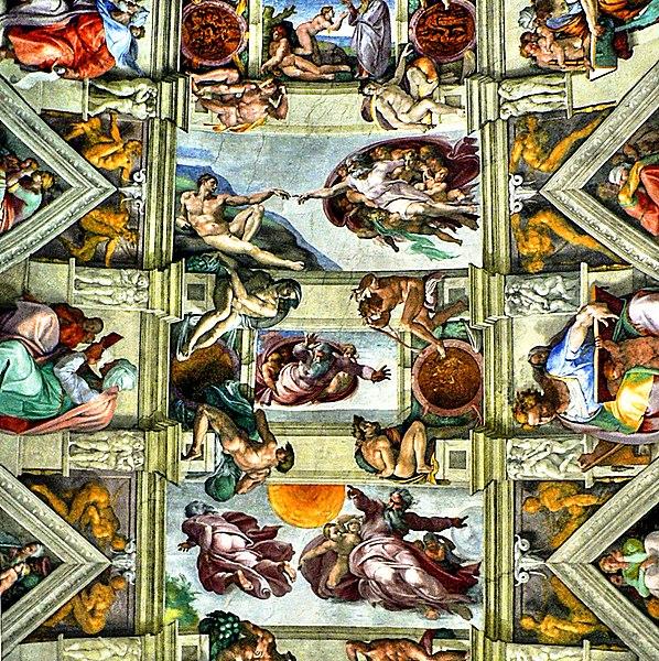 File:Rom - Vatikanische Museen, Die Erschaffung Adams (Mitte oben) – Deckengemälde von Michelangelo in der Sixtinischen Kapelle (8260275863).jpg