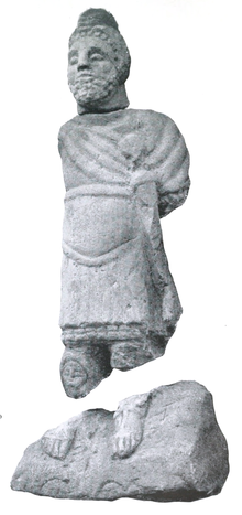 A statue to Mars Ultor from Balmuildy on the Antonine Wall has been scanned and a video produced. Romanfortatbalmu00mill orig 0143 Mars.png