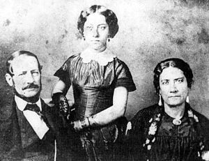 Queen Emma of Hawaii - Emma and her hānai parents.