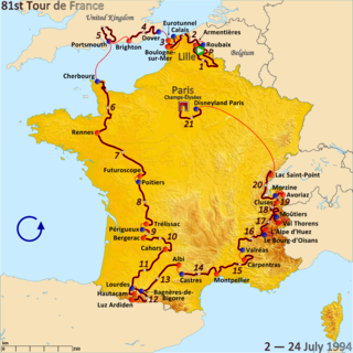 1994 Tour de France, Stage 11 to Stage 21 Wikimedia list article