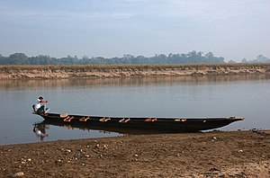 Royal Chitwan National Park transport boat Nepal.jpg