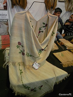 Ruana - A handmade Ruana of yarn exhibited at the National and International Poncho Festival.