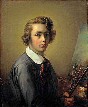 Rudolf Koller - Rudolf Koller, 1844, self-portrait at 16