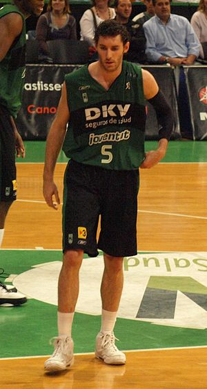Rudy Fernández (basketball) - With DKV Joventut at the 2008 ACB Playoffs.