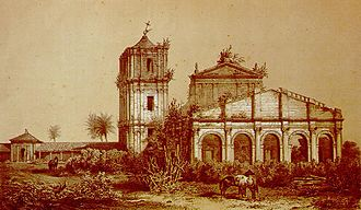 Misiones Province - 1846 impression of San Ignacio Miní, a Jesuit Reduction, abandoned following the temporary abolition of the order in 1773.