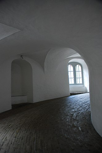 Equestrian staircase - Image: Rundetårn interior view (2008)