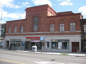 Runnymede Theatre - The building, several days after it opened as a Shoppers Drug Mart in 2015.