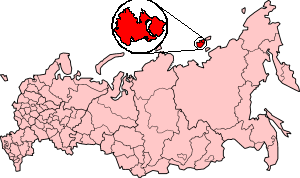 Kotelny Island - Location of Kotelny Island in the Russian Federation
